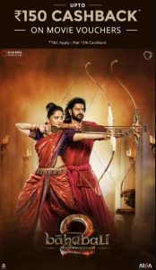 Paytm- Book Baahubali 2 Conclusion Movie Ticket and Get Upto Rs.150 Tricknshop