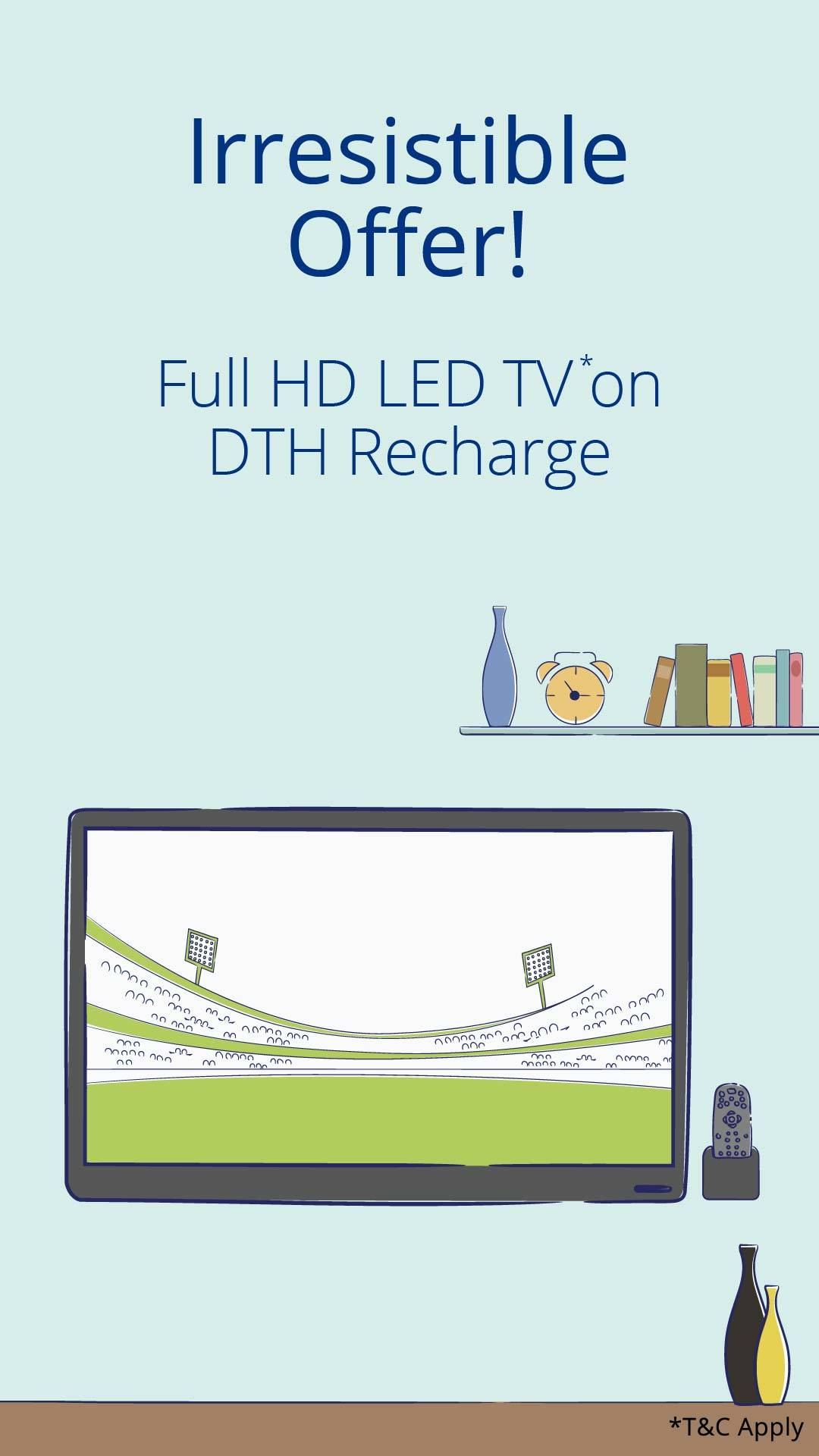 Paytm Win Led Tv on DTH Recharge of free Tricknshop