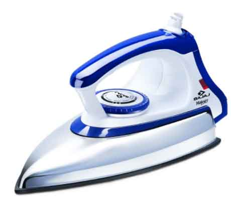 Bajaj Majesty DX 11 1000-Watt Dry Iron (Blue White) at Rs.499 only