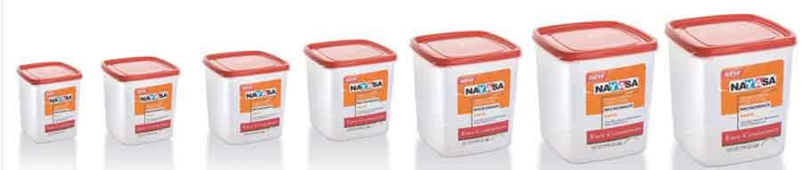 Nayasa Easy Plastic Container Set 7-Pieces, Red at Rs. 364 only