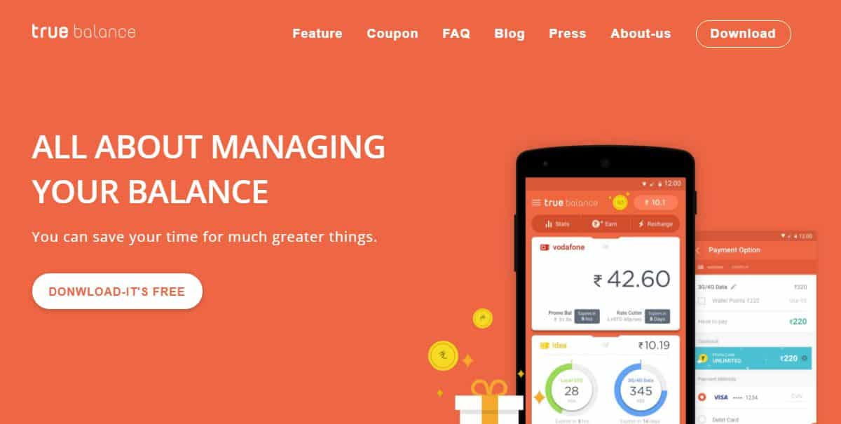 True Balance- Get Rs 5 Cashback on Recharge of Rs 8 or More