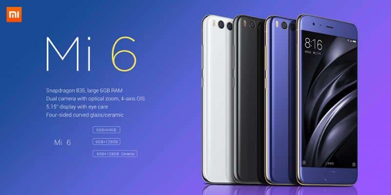 Xiaomi Mi 6 128GB Price in India Buy Online, Specifications, Features Reviews