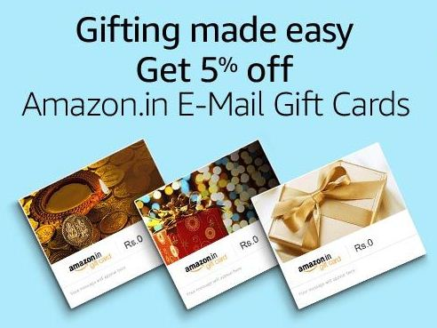 Amazon – Get 5% Cashback on Amazon Email Gift Card