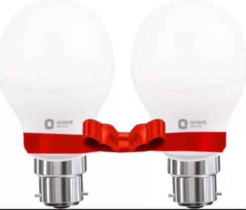 Amazon- Buy Orient Electric B22 18-Watt LED Bulb (Pack of 2) at Rs 349