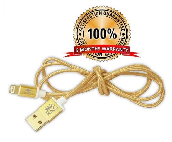 Amazon- R&G GOLD PLATED Charging and Data Cable