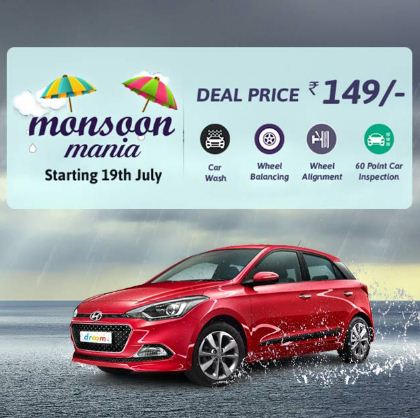 Droom Monsoon Mania Offer – Online Car service booking at Rs 149