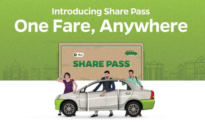 Ola Share Pass: Get First 3 Ola Express Ride Free