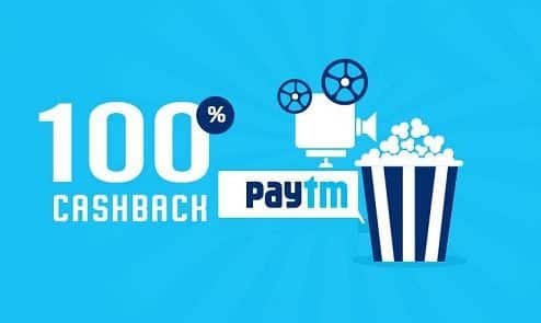 Paytm- Get 100% Cashback on Booking of Min 5 Movie Tickets