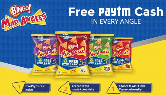 Paytm MadAngles Offer-Free Rs.30 Cash n more