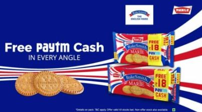 Paytm Parle Bake Smith Offer – Get Rs 18 Paytm Cash on Pack of Rs 30
