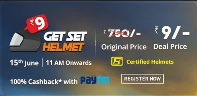 (Register Now) Get Helmet Only at Rs. 9 by Droom