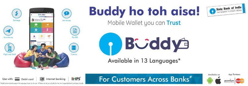 SBI Buddy App- Rs 25 On Signup+ Rs 25/Refer Direct In Bank