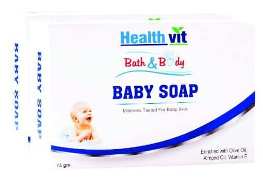 Amazon - Buy Healthvit Bath and Body Baby Soap (Pack of 2)