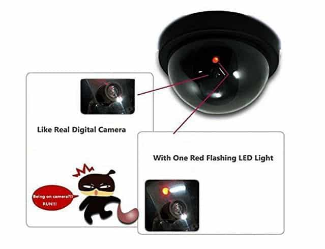 Amazon - Inovera LED Red Dummy Realistic Fack Security Camera