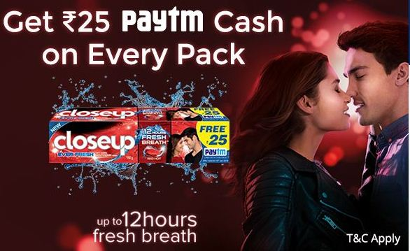 Paytm Close up Recharge Offer