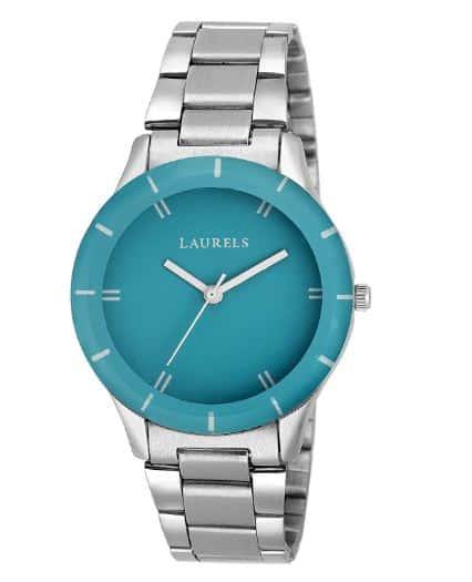 AMAZON -Laurels Colors Analog Blue Dail Women Watch ( Lo-Colors-141407 )