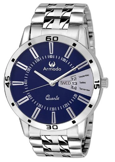 Amazon -Armado AR-096 Exclusive Day & Date Display Analog Stainless Steel Watch