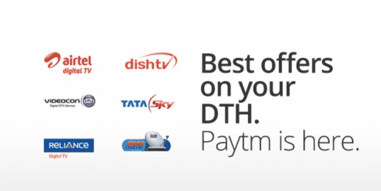 Paytm – Get Cashback Rs 40 on Recharge of Rs 300 or Above (DTH) or Above