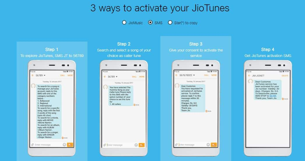 Activate JioTunes- Subscribe Free Dialer tone or Caller Tune 1