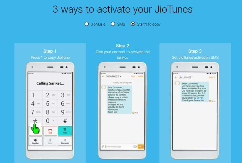 Activate JioTunes- Subscribe Free Dialer tone or Caller Tune 2