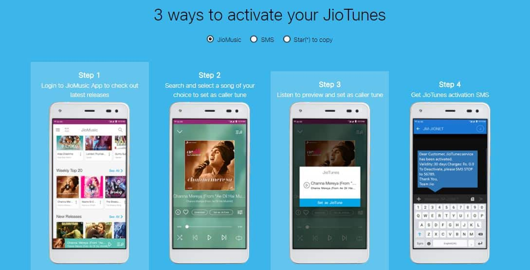 Activate JioTunes- Subscribe Free Dialer tone or Caller Tune