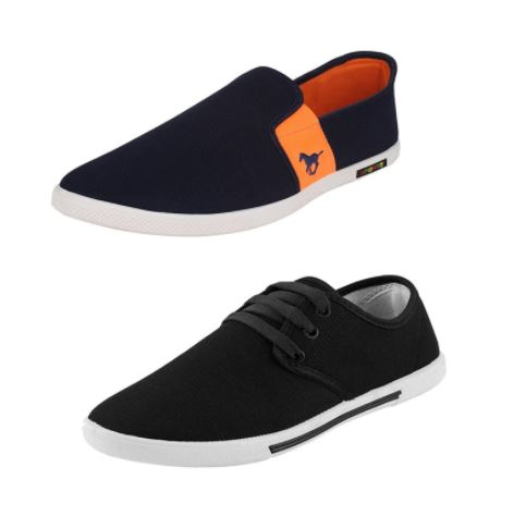 [Combo Pack] Loafer Shoes- Oricum COMBO(O)-383+349 Loafers For Men (Blue) at Rs 449