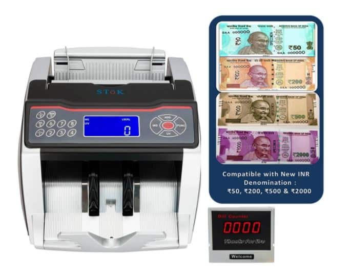 Amazon- Indian Currency Note Counting Machine SToK ST-MC02
