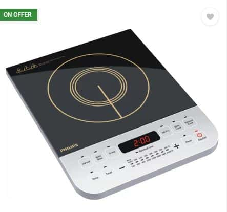 Fli[kart- 51% off on Philips HD4928-01 Induction Cooktop (Black, Push Button)