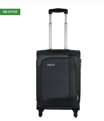 Flipkart- 46% off on American Tourister Nuvo Expandable Cabin Luggage - 22 inch (Grey)