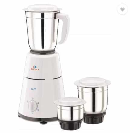Flipkart- 55% off on Bajaj GX1 500 W Mixer Grinder (White, 3 Jars)