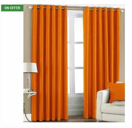 Flipkart- Buy Red Hot Polyester Door Curtain Pack of 2