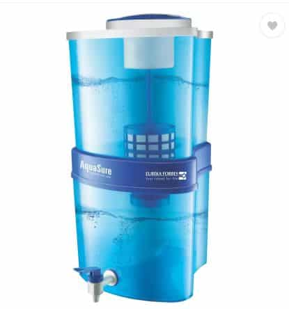 Flipkart- Eureka Forbes Aquasure Xtra Tuff 15 L Gravity Based Water Purifier (White, Blue)
