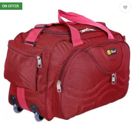 Flipkart- Inte Enterprises red699 (Expandable) Duffel Strolley Bag (Red)