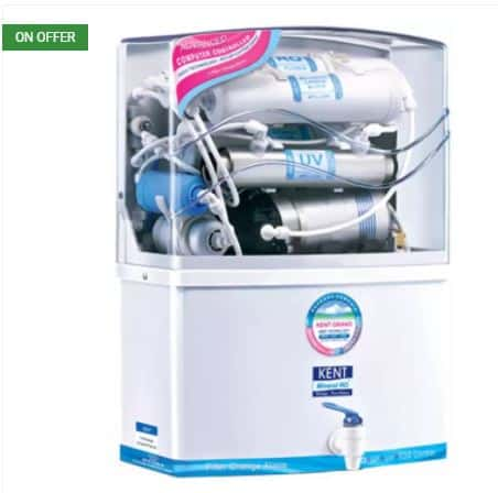 Flipkart- Kent Grand 8 L RO + UV +UF Water Purifier (White)