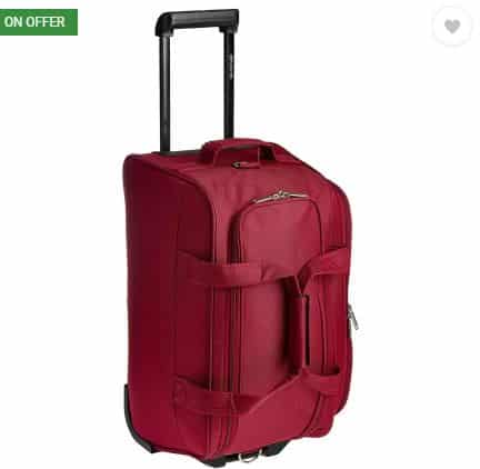 Flipkart- Pronto MUNICH 24 inch or 60 cm Duffel Strolley Bag (Maroon)