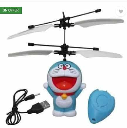 Flipkart Toys- 58% off on Angella Flying Doraemon Sensor Helicopter (Blue, White)