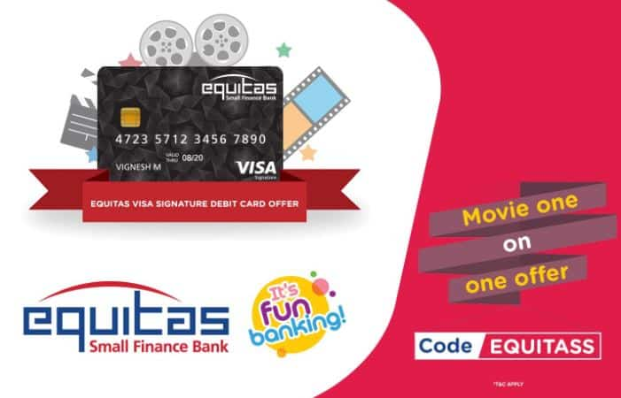 How to Flat Rs 250 on ticketnew with Equitas Bank Visa Signature Debit Card