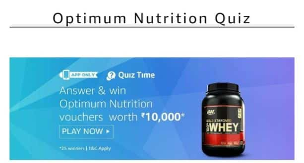 (Questions & Answers Added)Amazon Optimum Nutrition Quiz Answers