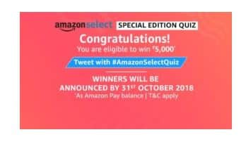 (All Answers) Amazon Special Edition Quiz- Win 1 Lakh 1