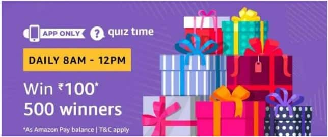 (1 December Answers) Amazon Quiz – Answer & Win Rs 100