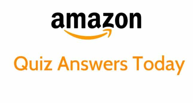 Today Amazon Quiz Answers
