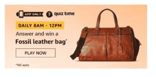 Amazon Fossil Leather Bag Quiz Win Leather Bag