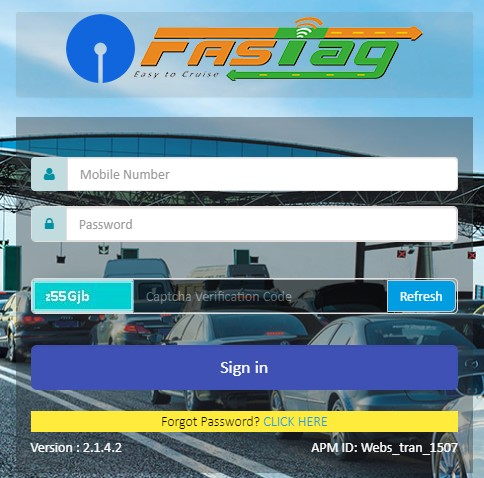 Fastag SBI Apply Online Registration- How to get Registration for Fastag SBI