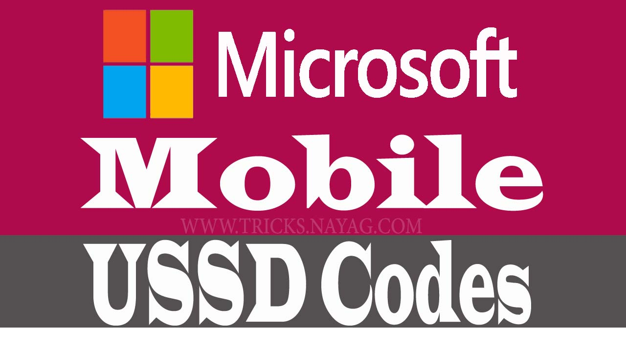 Microsoft Mobile Ussd codes