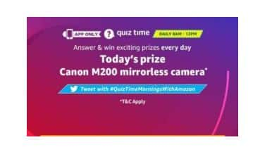 Today Amazon Quiz Answer 26 May 2020- Win Canon M200 Camera for free