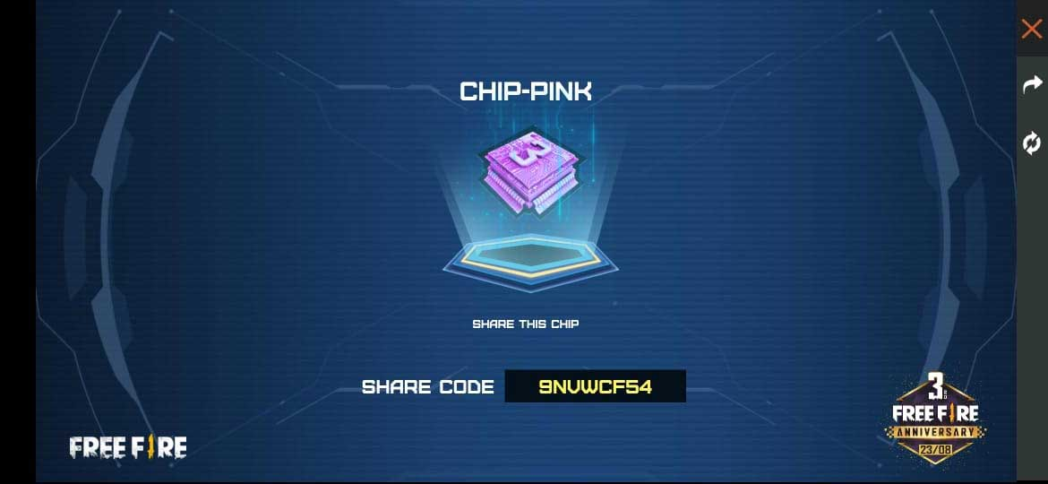 Free Fire Pink Chip Code.